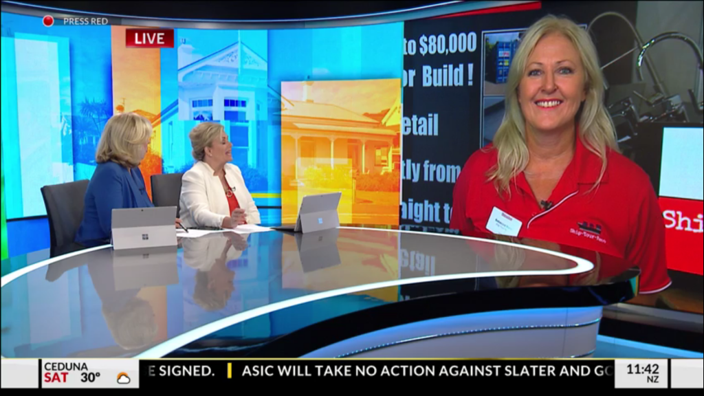 Bec from Ship-Your-Reno on Sky News